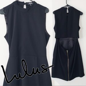 LULU'S PEEKABOO BODYCON BACKLESS MINI DRESS XL